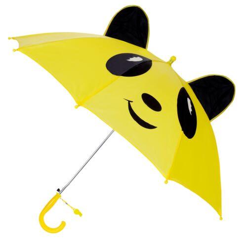 Cute Kids Children/'s Animal Umbrella 3D Ear Cartoon Hook Handle Rain Brolly