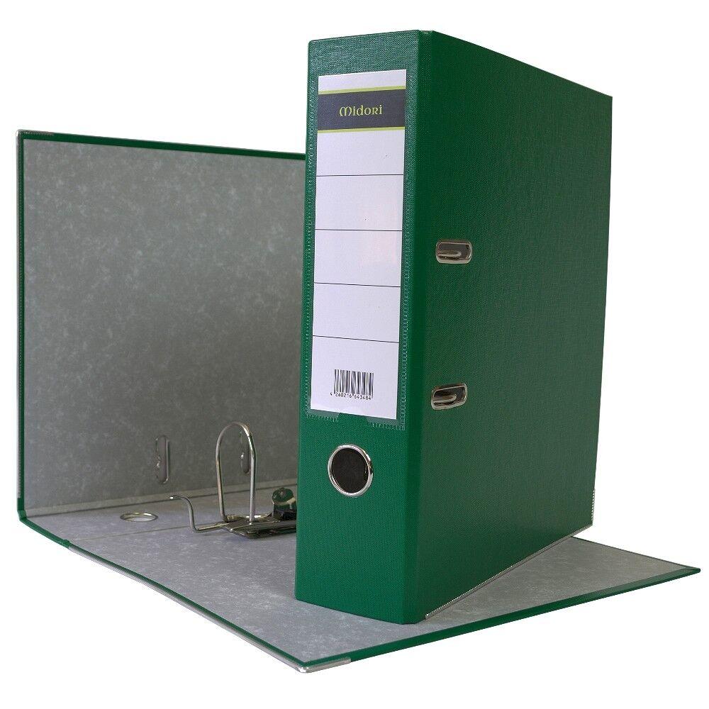 480 x Ordner A4 8cm PP Kunststoff Grün Aktenordner Briefordner Breit Büro | Haltbarer Service  | Ein Gleichgewicht zwischen Zähigkeit und Härte  | Mode-Muster