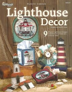 Image Is Loading Lighthouse Decor Plastic Canvas Patterns Nautical Coasters Tissue