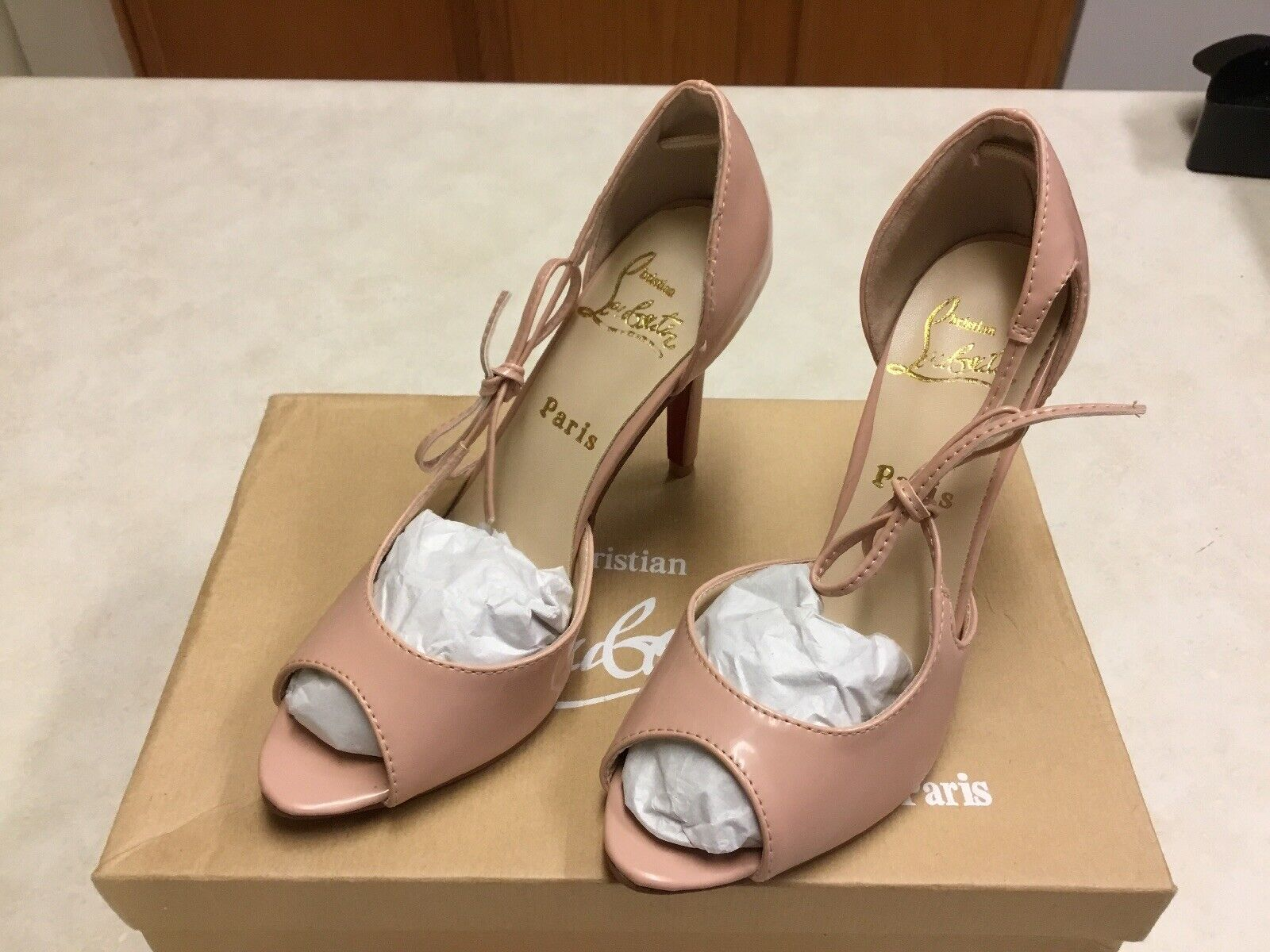 Womens Open Toe Heels With Size Bow Tie Size. 37