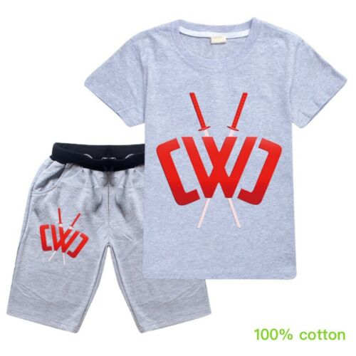 Chad Wild Clay Tracksuit Kids Children Trouser Suit Hoodie T-shirt+Pant Age 3-12