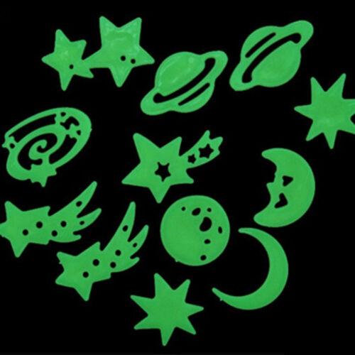 Luminous Glow in the Dark Moon Star Wall Sticker Bedroom Kids Favor Decor