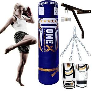 Punch Bag Hanging Boxing Heavy Filled Duty Punching MMA Training Pad Kick