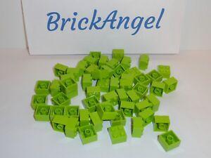 NEW LEGO Lime Green 2X2 Bricks Bulk Lot of 50 Pieces 3003