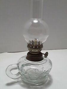 Miniature-Vintage-Glass-Oil-Lamp