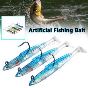 3Pc-15cm-6-039-039-Swim-Shad-Reflective-Soft-Jighead-Eel-Sea-Fishing-Lures-Tackle