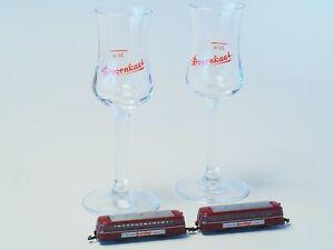 88311-Marklin-Z-scale-Rail-Bus-amp-Trailer-Car-amp-2-Doornkaat-glasses-NIB