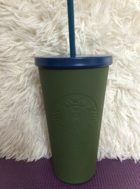 Starbucks Studded Blue Stainless Steel Cold Cup16 Oz NEW