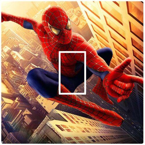 Spiderman cityscape-Autocollant Commutateur de Lumière Peau Housse Vinyle-chambre de vos enfants