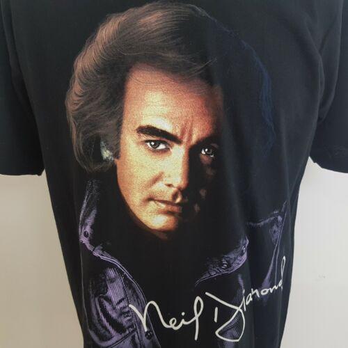 Neil Diamond 1996 Tour T-Shirt Mens Large England / Eire Short Sleeve Black