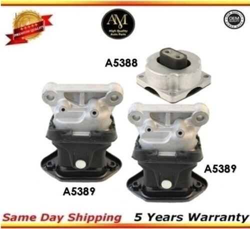 Transmission Mounts Front and Rear Set Kit 3PCS 2.7L 3.5L For Chrysler Dodge