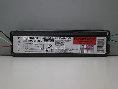 2 Howard EL2//32IS-120 Fluorescent Ballast for F32T8 F17T8 Lamps MADE IN USA