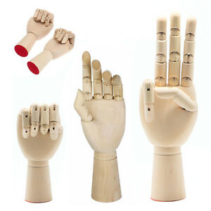 right left hand wooden model sketching drawing jointed movable