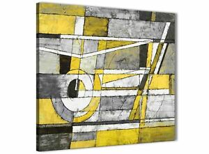 Wondrous Details About Yellow Grey Painting Kitchen Canvas Accessories Abstract 1S400S 49Cm Complete Home Design Collection Epsylindsey Bellcom