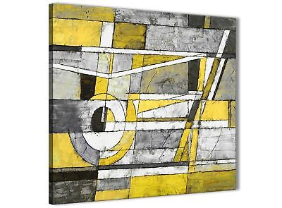 Kitchen Accessories 49cm 1s400s Painting Canvas Abstract Yellow Grey Ew4FII