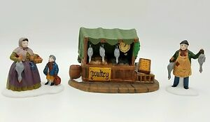 Dept-56-Poultry-Market-55590-New-Old-Stock-Mint-in-Box-Retired