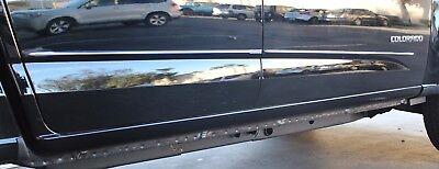 "15-18 GMC Canyon 4dr Crew Cab Lower Chrome Streamline Side Door Body Molding1//2/"""