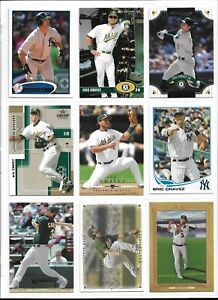 ERIC-CHAVEZ-OAKLAND-ATHLETICS-75-BASEBALL-CARD-LOT-W-INSERT-PARALLELS
