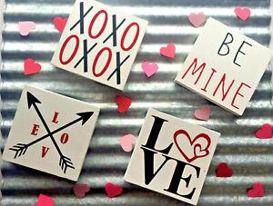 Valentines Day Heart Love Signs Farmhouse Block Mini Be Mine Small Gift Him Her Ebay