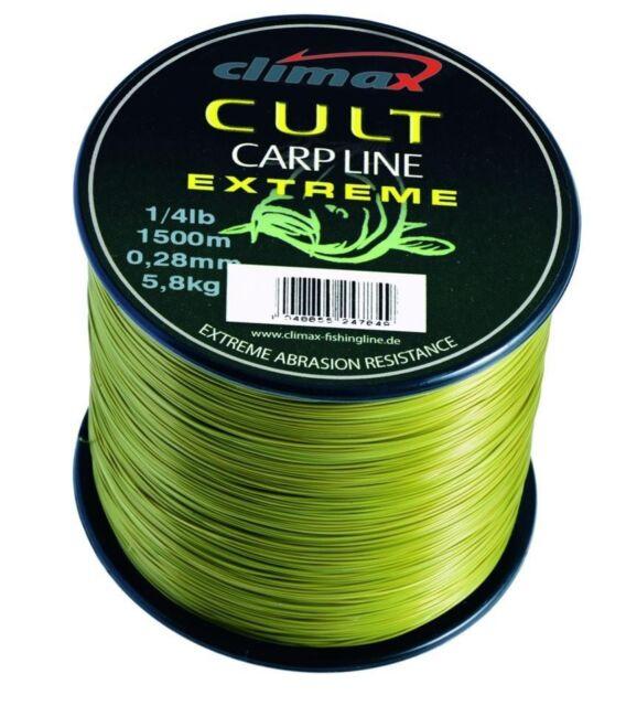 Climax Cult Carp Line Extreme Monfile Fluorocarbon Karpfenschnur 910-1200m