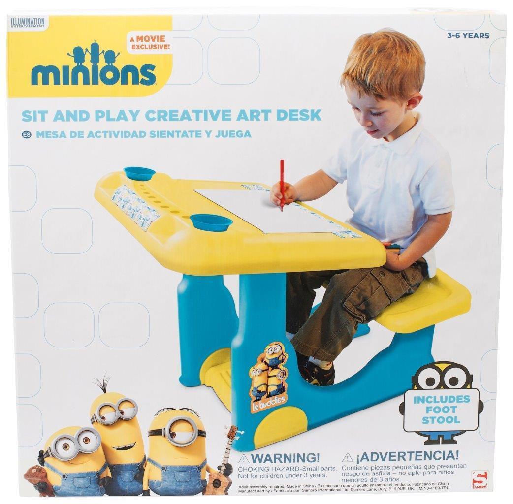 Despicable Me Minions S'asseoir et et et Jeu Grand Art Créatif Colorer Bureau Tabouret 159bc2