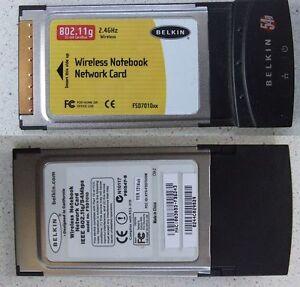 BELKIN 54G WIRELESS G NOTEBOOK NETWORK CARD DRIVER FOR WINDOWS MAC