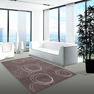 Das Bild Wird Geladen Teppich Modern Desinger Wohnzimmer  Chapel Kreis Dunkelgrau Silber