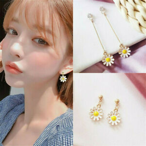 1-Pair-Daisy-Flower-Earrings-Drop-Dangle-Ear-Studs-Women-Party-Jewelry-Gift-AU
