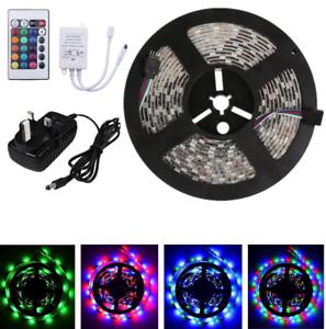 Flexible-Light-Strip-5-10-15-20M-3528-5050-RGB-600-Led-SMD-Lamp-24-key-IR-12V-UK