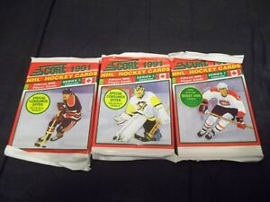 1991-92-Score-Canadian-Series-1-English-Sealed-Pack-possible-Bobby-Orr-inserts