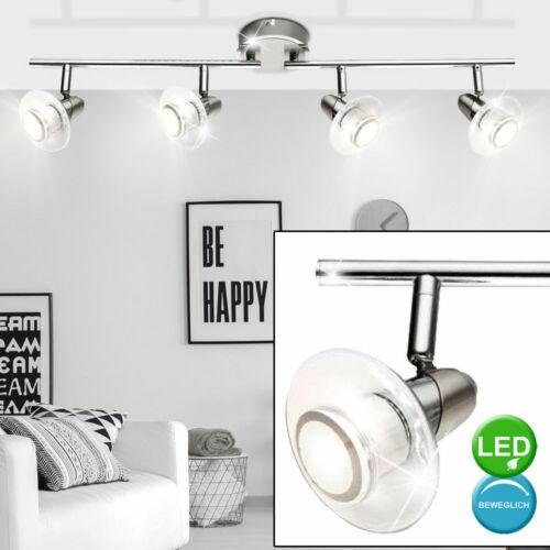 LED Decken Strahler Chrom Leuchte Wohn Arbeits Zimmer ALU Spot Lampe verstellbar