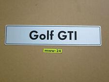 original VW Golf GTI Kennzeichen 1 2 3 4 5 Nummernschild Treffen 16V G60 Pirelli