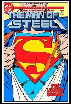 KIMERA Y FOLEY COLLECTABLES  Dibón metálico DC Superman Comics MOS Vol. 1#1 1986