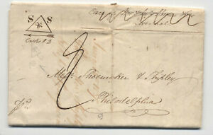 1837-stampless-Sheffield-england-to-Philadelphia-H-581