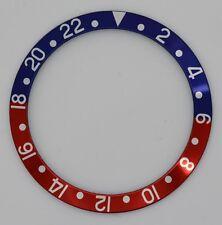 INSERTO Lunetta si adatta & PER ROLEX GMT Master Orologio Blu Rosso Pepsi casi 16800 parte