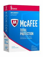Mcafee 2017 Total Protection-5 Devices [key Code] Key Code 5 De... Free Shipping
