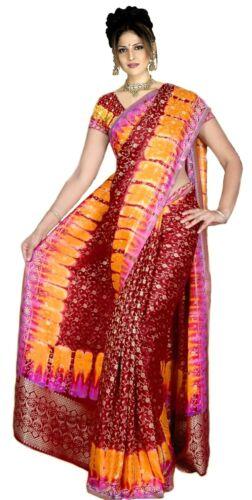 Terminé gewickelter bollywood sari inde multicolore en 3 tailles