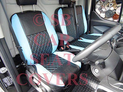 MWB BL // BK BENTLEY DIAMOND SEAT COVERS TO FIT A FORD TRANSIT CUSTOM VAN