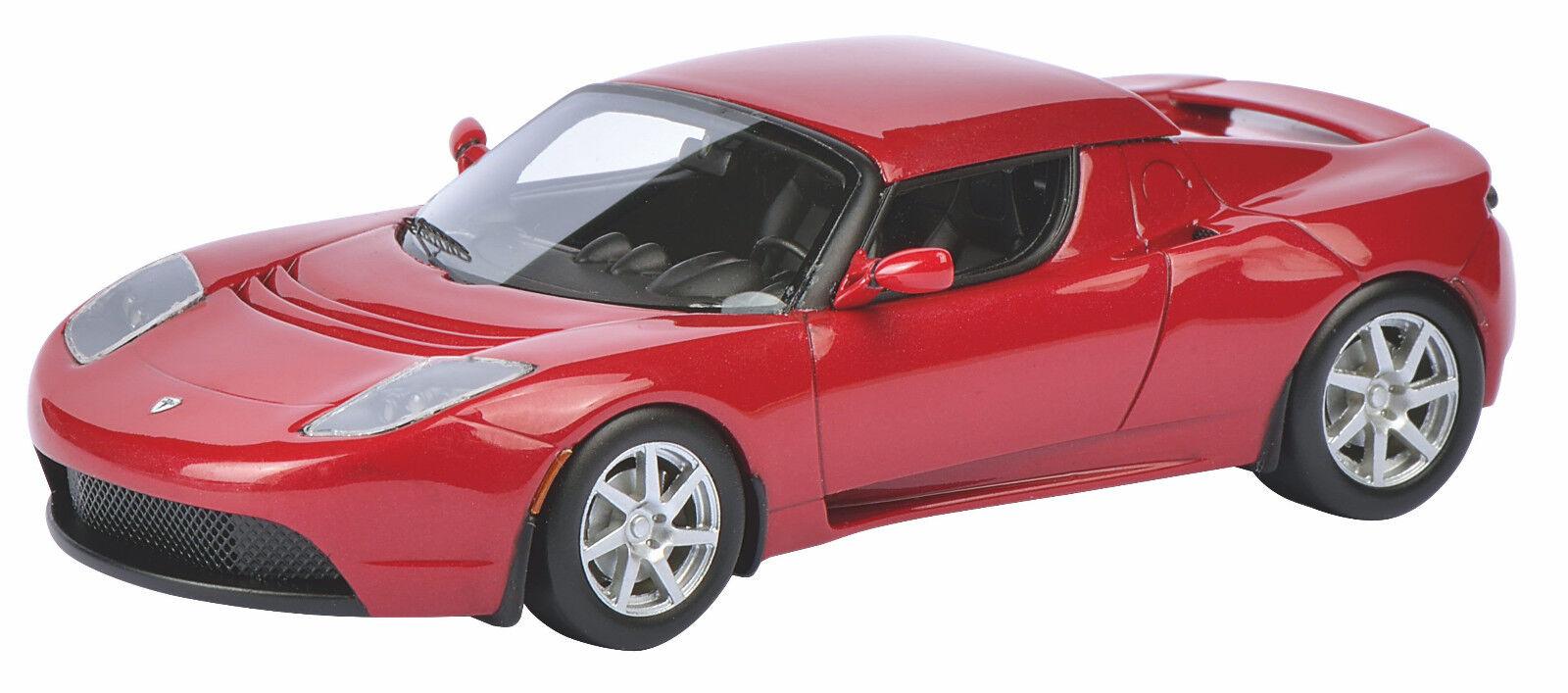 Schuco 450897700 Tesla Roadster rigide-Rouge 1 43 NOUVEAU & NEUF dans sa boîte