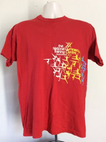 Vtg 80s National Gymnastic Training Centre T-Shirt
