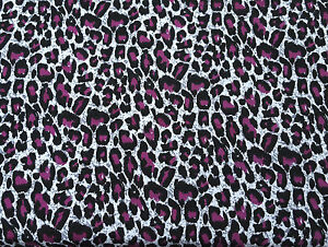 Image Is Loading Cotton Modal Spandex Purple Cheetah Print 18 Fabric
