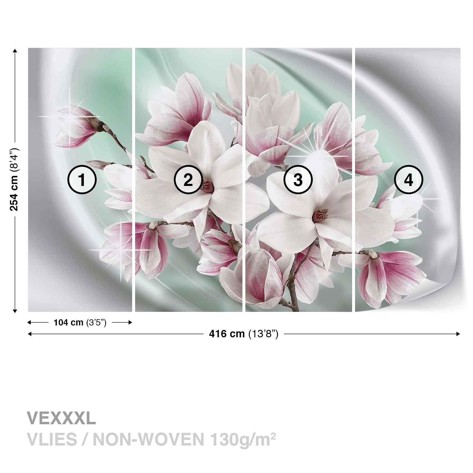 Tapete Vlies Fototapete Natur Pflanzen Blumen weiße Magnolienblüten Frühling Frühling Frühling 0b4d91