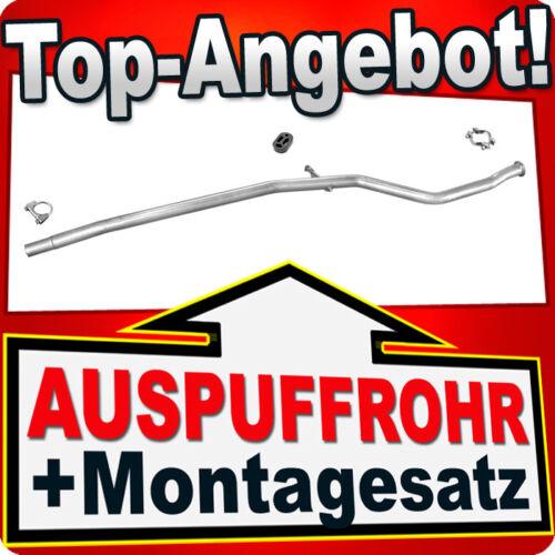 Reparaturrohr PEUGEOT 206 1.1 60PS 1.4 75PS 1998-2001 Auspuff Mittelrohr NNF