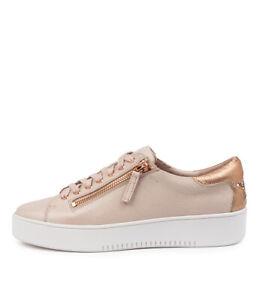 New Mollini Lota Dk Tan Pale Gold Womens Shoes Casual Sneakers Casual