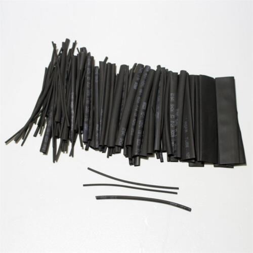 Noir en Vrac Emballé Shrink Tube Assortiment Tube D/'Isolation 100-teilig