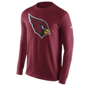 f95fd9fa Details about Arizona Cardinals Nike Men's Primary Logo Long Sleeve T-Shirt  - Size XXL - NWT