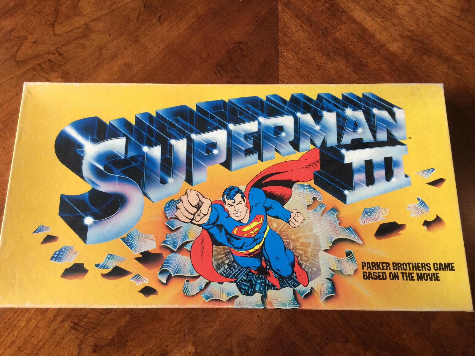 Parker Bredhers, DC Comics Superman III Board Game 1982 Vintage 100% Complete