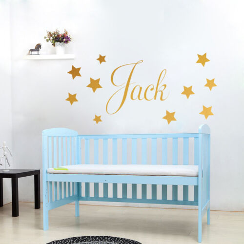 Personalised ANY Name Disney Style Boys Girls with Stars WALL STICKER transfer 2
