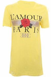 La femme maglioncino maglione T Shirt Top Donna Fashion Slogan Parigi Designer colpevole