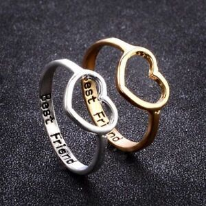 love heart rings best friend ring gifts for girls friendship jewelry
